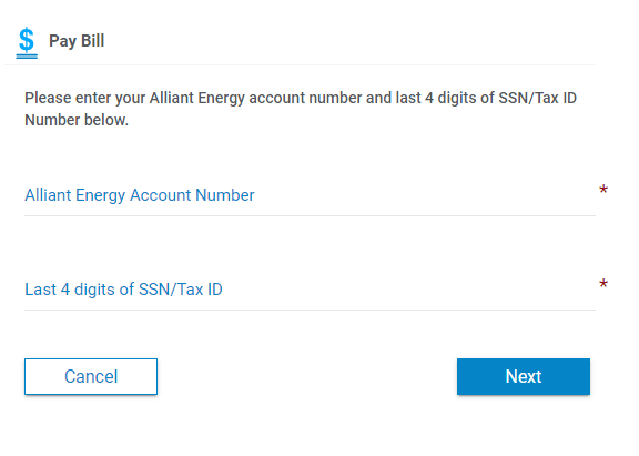 Alliant Energy One Time Payment